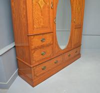 Stunning Victorian Satinwood & Marquetry Compactum Wardrobe (5 of 24)