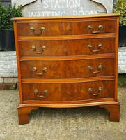 Burr Yew Serpentine Front Chest of Drawers (2 of 5)