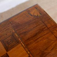 Rosewood Games Table Chess Board Folding Card Table 19th Century (9 of 16)