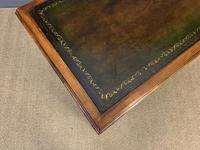 Edwardian Burr Walnut Pedestal Desk (4 of 14)