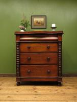 Antique Scottish Style Mahogany Chest of Drawers, Country House Chest