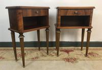 Vintage French Mahogany Cabinets Bedside Tables (11 of 14)
