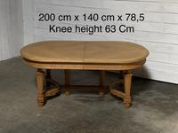 Huge Bleached Oak French Extending Dining Table (3 of 24)