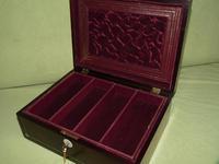 Unisex Inlaid Rosewood Jewellery Box + Tray. c1850 (2 of 13)