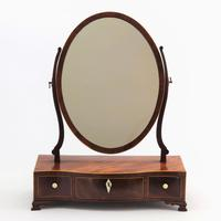 Georgian Serpentine Fronted Oval Mahogany Dressing Table Mirror c.1790 (2 of 10)