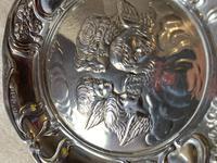 Silver Cherub Embossed Dish. (4 of 4)