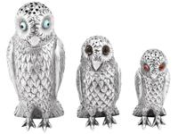 Sterling Silver Owl Pepperettes - Antique Victorian (2 of 12)