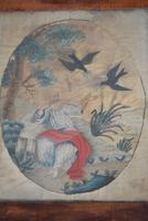 Antique Silk Work Embroidery Picture Elderly Gentleman (10 of 11)