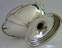 Heavy Solid Sterling Silver English Swing Handled Bowl Basket 1906 172g Antique (3 of 7)