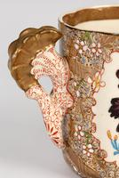 Zsolnay Pecs Hungarian Hand Painted Floral Cabinet Cup & Saucer c.1890 (2 of 16)