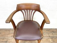 Early 20th Century Antique Oak Desk Chair (3 of 9)