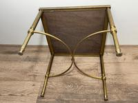French Brass Square Leather Top Coffee Table (26 of 28)