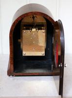 Burr Walnut Arch Top Bracket Clock (5 of 11)