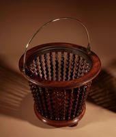 Beautiful Mahogany Tea Stove Bucket / Peat Bucket Jardinière (10 of 11)