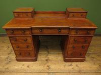 Antique Satin Birch Pedestal Desk by Heal & Sons (3 of 21)