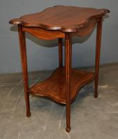 Mahogany Inlaid Occasional Table (4 of 4)