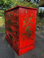 Antique Lacquered Chinoiserie Chest of Drawers (3 of 11)