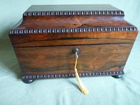 Rosewood Twin Canisters + Bowl Tea Caddy c.1840 (6 of 16)