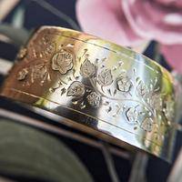Antique Victorian Sterling Silver Aesthetic Movement Bangle, 1884 (3 of 9)
