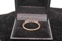 9ct Gold & Diamond Ring, size R, weighing 2.4g (6 of 7)