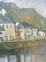 Oil on Canvas Laid on Board by the River Loire Listed Artist John Denahy (4 of 10)