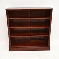 Antique Victorian Mahogany  Open Bookcase (6 of 12)