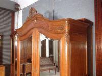 Carved Oak 2 Door  Armoire (2 of 9)