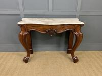 Victorian Mahogany Marble Topped Console Table (6 of 11)