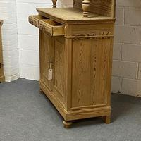Very Tall Antique Pine Partly Glazed Dresser (6 of 8)