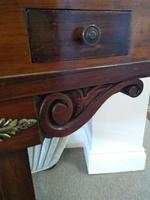 Victorian Mahogany Green Leather Lady's Workstation, Sewing & Writing Desk (7 of 10)