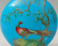 Minton Porcelain Moon Flask William Mussill 1875 Bleu Celeste (2 of 10)