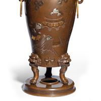 Pair of Large Meiji Period Bronze Vases (8 of 9)