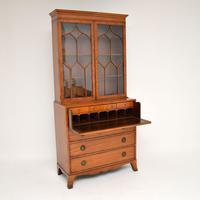Antique Inlaid Mahogany Secretaire Bureau Bookcase (3 of 11)