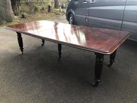 Antique Mahogany 3 Leaf Extending Dining Table (10 of 12)