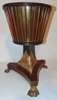 Regency dutch mahogany and gilt jardiniere