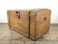 Large Antique Pine Dome Top Trunk (6 of 9)