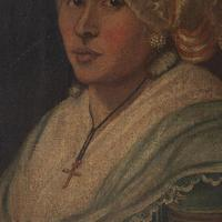 18th-Century French School Portrait of Lady with Bonnet, Oil Painting (7 of 9)