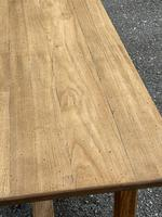 Large French Bleached Farmhouse Dining Table (4 of 26)
