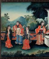 Good Early 20th Century Chinese Reverse Glass Painting (3 of 4)