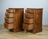 Stunning Pair of Burr Walnut Bedside Chests of Drawers (4 of 5)