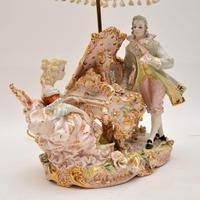 Antique Italian Capodimonte Porcelain Table Lamp (4 of 11)