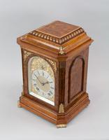 Fine Quality Burr Walnut Bracket / Mantel Clock By Lenzkirch (7 of 11)
