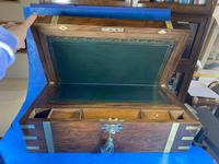 Victorian Brass-bound Walnut Writing Slope with Secret Drawers (29 of 39)