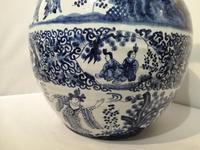 19th Century Blue & White Dutch Delft Flagon / Ewer (7 of 14)