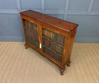 Burr Walnut Glazed Bookcase (14 of 14)