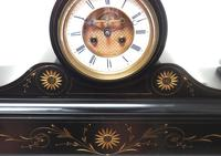 Amazing French Slate Mantel Clock Visible Escapement 8 Day Striking Mantle Clock (3 of 14)
