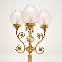 French Style Brass & Glass Table Lamp (4 of 10)