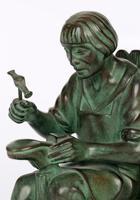 Max Le Verrier Pair Art Deco Patinated Bronze The Cobbler & The Financier Bookends (17 of 18)