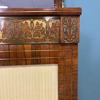 Stunning Warm Rosewood Antique Cabinet with Brass Inlay (9 of 11)