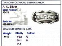 0.42ct Diamond & 18ct White Gold Dress Ring - Vintage Belgian c.1940 (6 of 9)